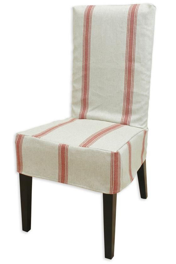 Crestmont Red Collection Parsons Chair Slipcover Dining