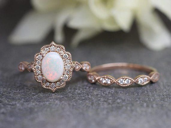 14K Rose Gold Morganite Engagement Ring Unique Morganite Engagement Ring Morganite Anniversary Ring - Fine Jewelry Ideas, #14k #Anniversary #Engagement #Fine #Gold #Ideas #Jewelry #Morganite #Ring #Rose #Unique