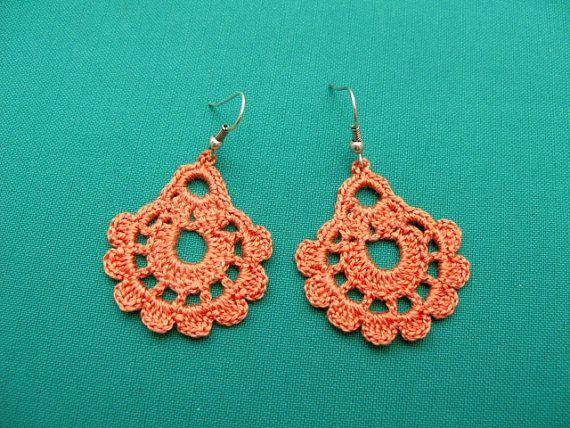 PDF Tutorial Crochet Pattern...Dangle Earrings -19 | Patrón de ...