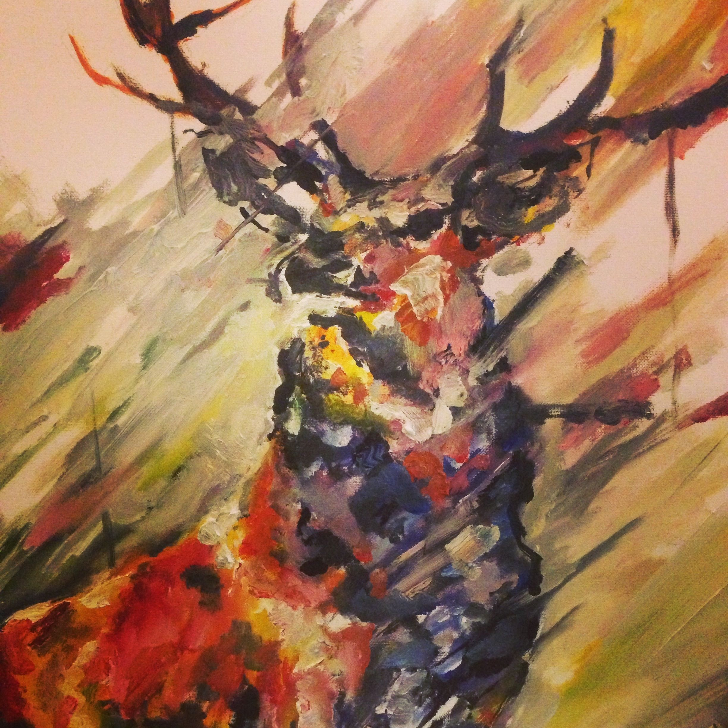 Deer Painting Abstract - Google In 2019 Art Acrylic