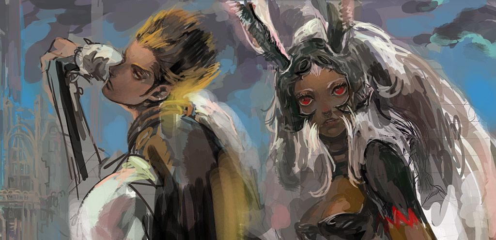 Final Fantasy 12-Balthier and Fran by nonamezai.deviantart.com on @deviantART