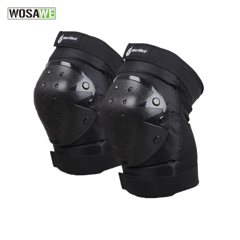 Wosawe Motocross Knee Pad Protector Riding Ski Snowboard Tactical Skate Protective Knee Guard Motorcycle Knee Sup Ski Accessories Knee Pads Mountain Bike Shoes