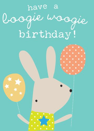 Birthday Card For Boogie Woogie Music And Movement By Lizzie Mackay Copyright Of Lizzie Birthday Illustration Happy Birthday Greetings Birthday Greeting Cards