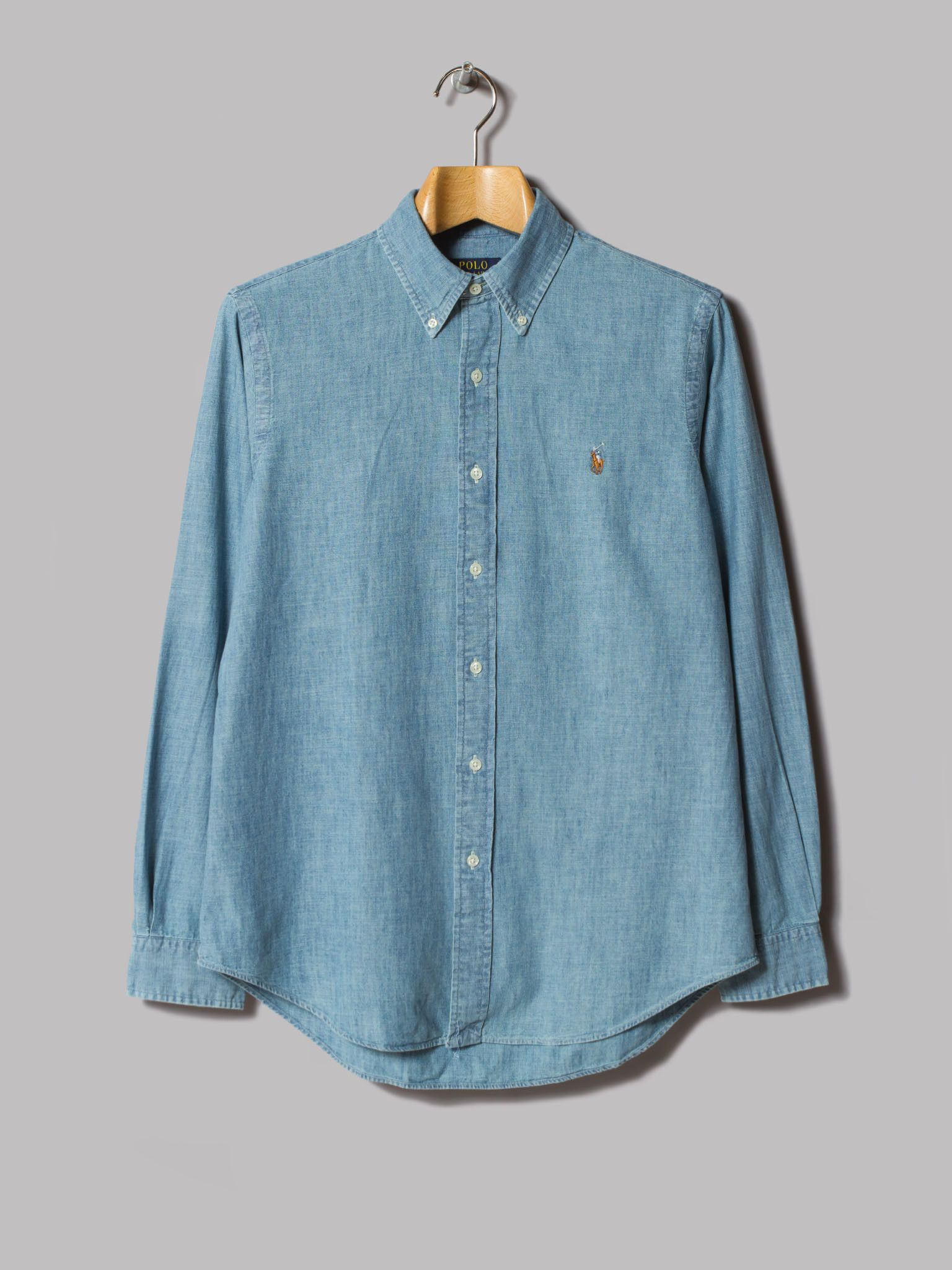 a81dc7fdec Polo Ralph Lauren Custom Fit Denim Shirt (Medium Wash)
