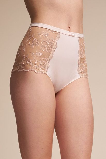 e05f6135a Nude Lace High Waisted Bridal Underwear BHLDN - Gisette High-Waisted Brief