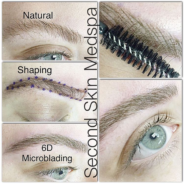 Fuller natural 6d microblading feather hairstroke