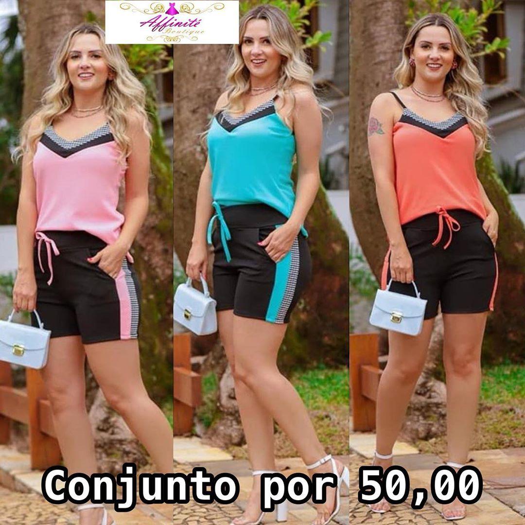 Bazar com novidades LINDAS!! ❤️ Conjunto de Malha Crepe de Regatinha e Short por 50,00 à vista, disp...