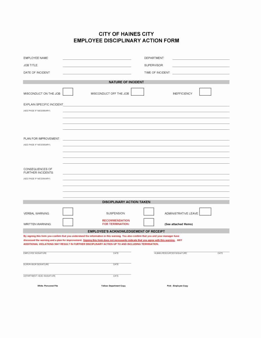 Employee Corrective Action Plan Luxury Employment Write