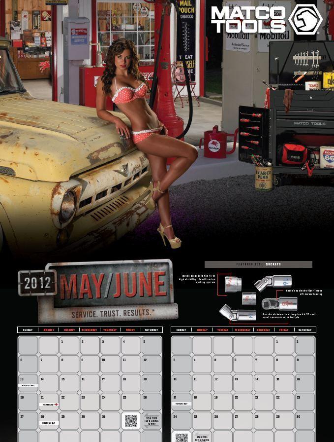 Calendar Girl May Kindle : May june matco tools calendar girl s