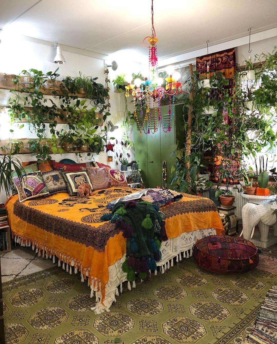 pinbee jones on home in 2020  bohemian bedroom design