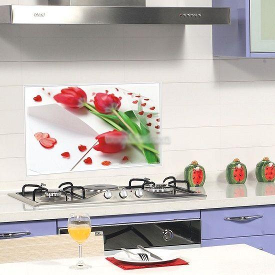 Giấy dán tường nhà bếp cho phòng ăn thêm sạch sẽ và sinh động. Kích thước 75cmx45cm giá chỉ 49k/ 3 tấm. Dán trực tiếp lên bề mặt nhẵn như gạch, gương