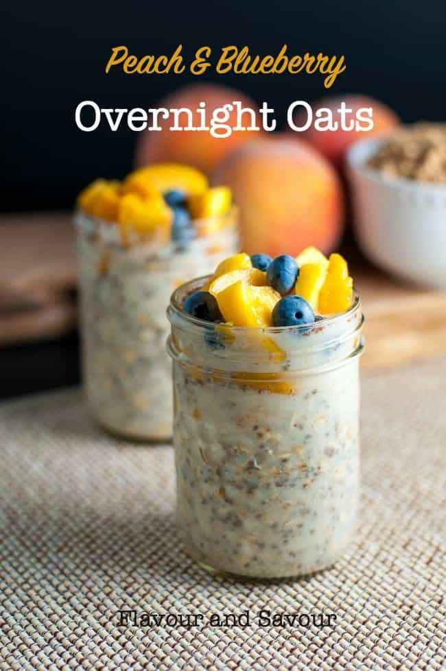 Blueberry Overnight Oats Prepare a healthy breakfast at bedtimeand wake up to these naturally sweet peach and blueberry overnight oats, made with energy-boosting, protein-rich chia seeds.Prepare a healthy breakfast at bedtimeand wake up to these naturally sweet peach and blueberry overnight o...a