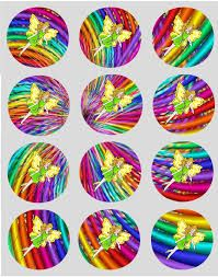 rainbow cupcake toppers - Google Search