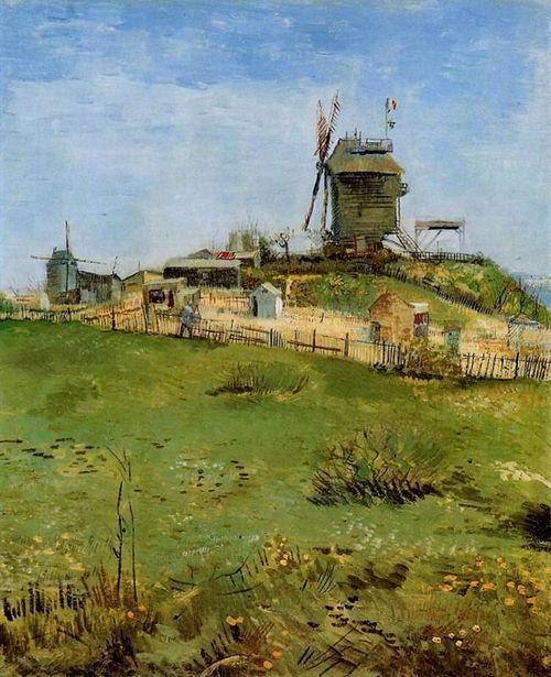 Moulin de la Galette 1887 by Vincent Van Gogh #art Art that I like - Description De La Chambre De Van Gogh