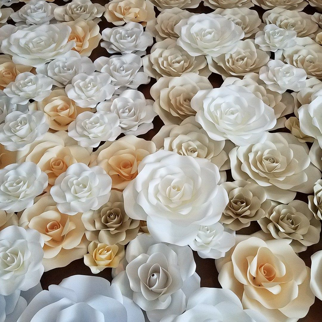 Pdf rose petal template digital version medium rose 13 to 14 paper flower wall a bed of roses in preparation for another wedding tomorrow mightylinksfo