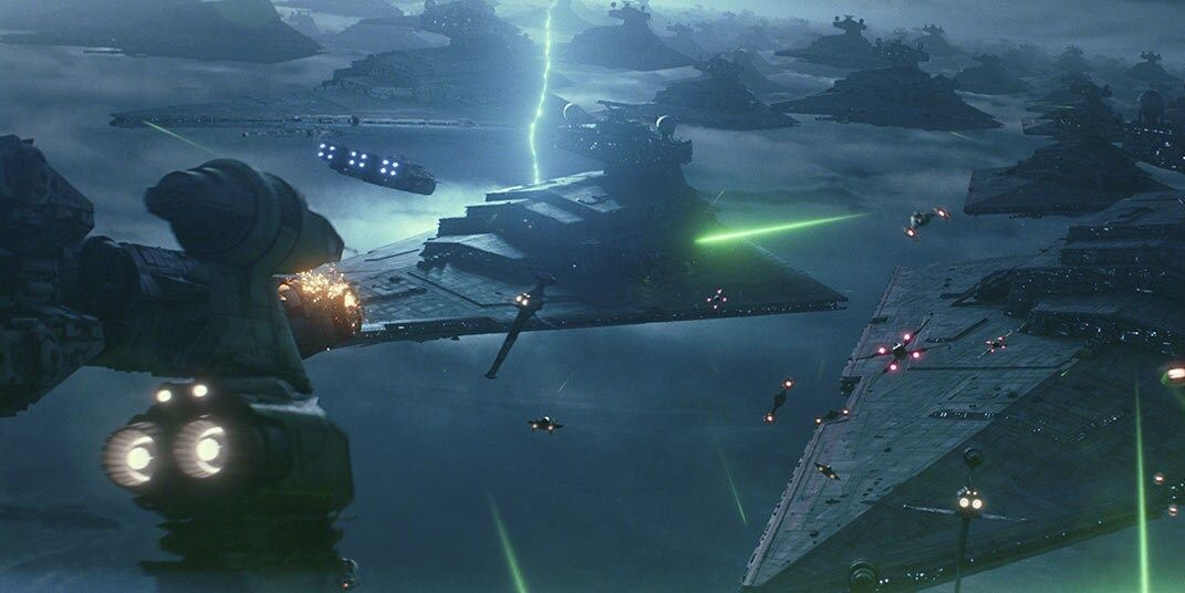 Beneath The Barren Surface Of Exegol Waits An Armada Of Hundreds Of Xyston Class Star Destroyers These Massive Ba In 2020 Star Destroyer Star Wars Empire Star Wars Ii