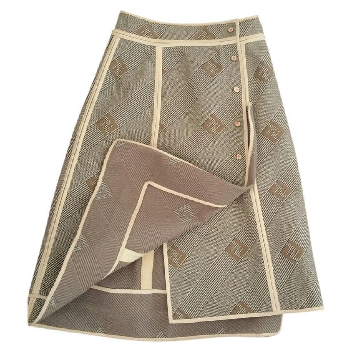 FENDI Beige Skirt