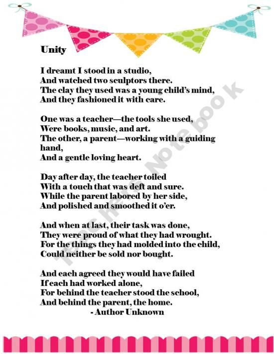Gratitude to parents from an elementary school teacher for helping and raising children in verse: a sample