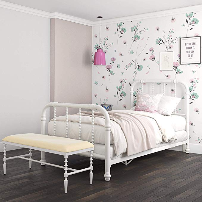 DHP Jenny Lind Metal Bed Frame in White with