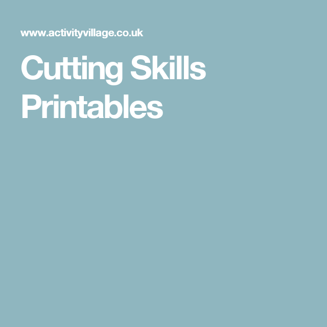 Cutting Skills Printables | Kindergarten ideas | Pinterest ...