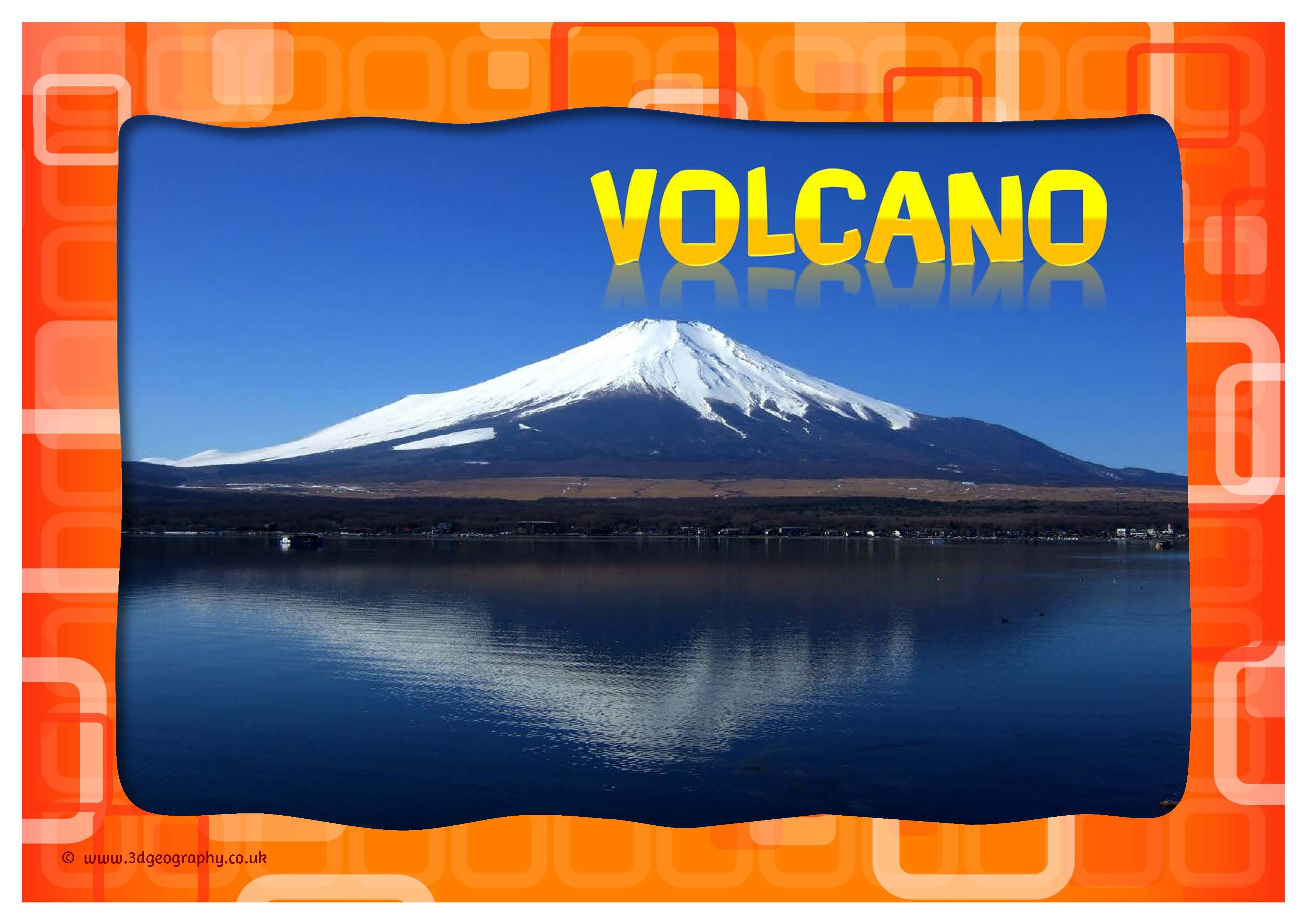 Volcano Posters For Class Display