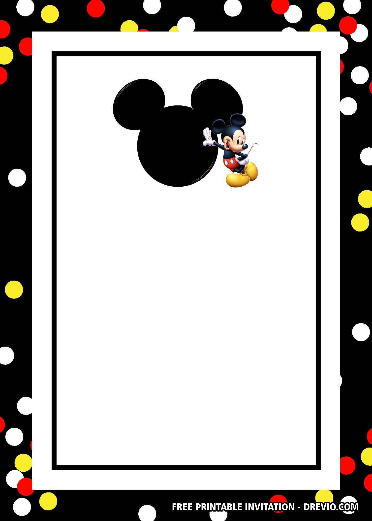 Free Mickey Mouse Head Invitation Templates Mickey Mouse Birthday Invitations Mickey Mouse Invitations Mickey Mouse Invitation