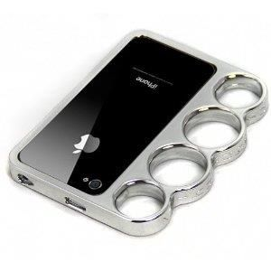 Brass Knuckle iPhone Case - http://coolgadgetsmarket.com/brass-knuckle-iphone-case/