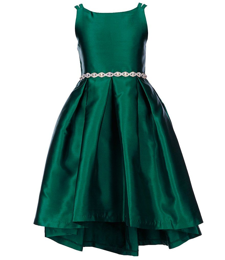 4c5e9cd624f Rare Editions Big Girls 7-16 Mikado Novelty-Trim Fit-And-Flare Dress ...