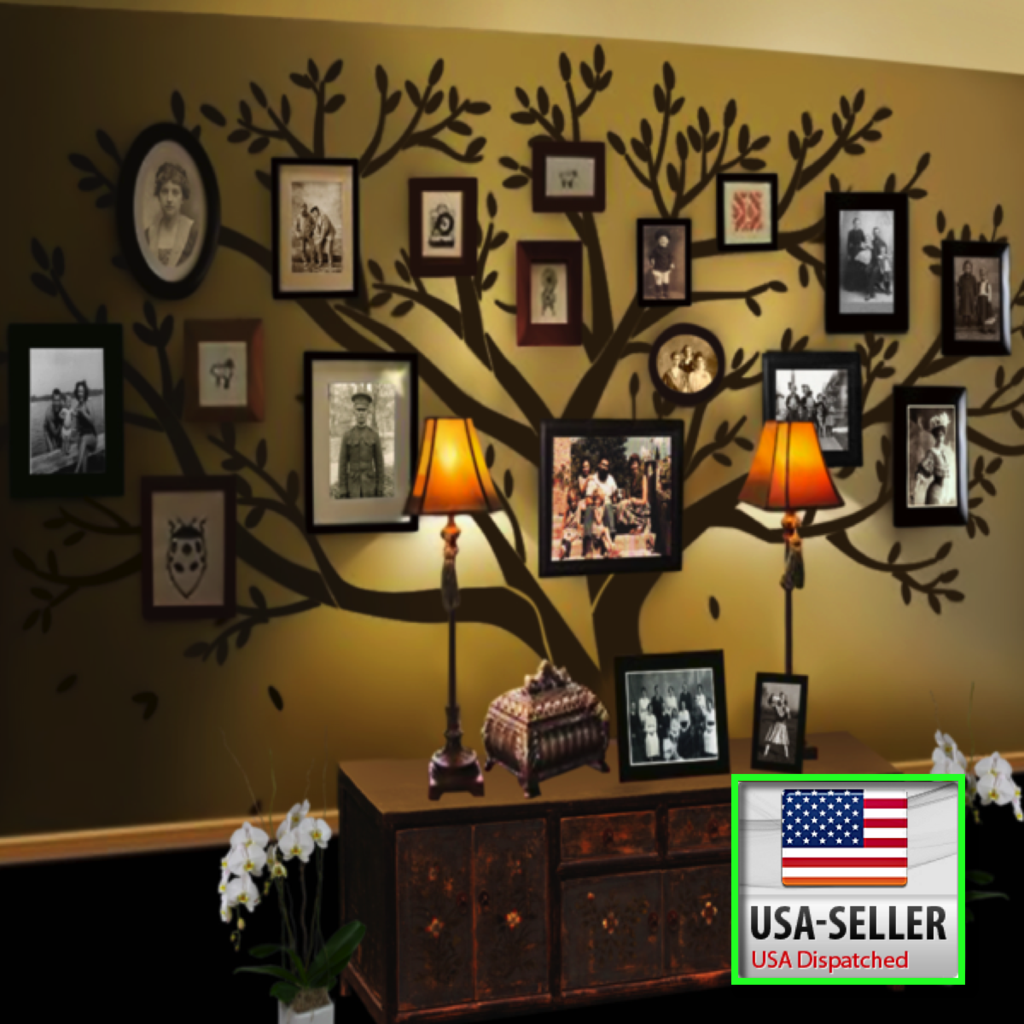 Extra Large Family Tree Wall Decal Dekor Duvar Cerceve