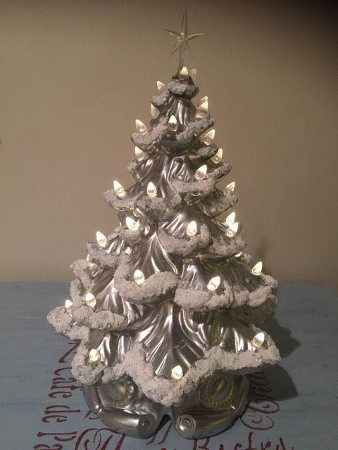 Ceramic Christmas Tree Painting Ideas.Diy Update Vintage Ceramic Christmas Tree Ceramic