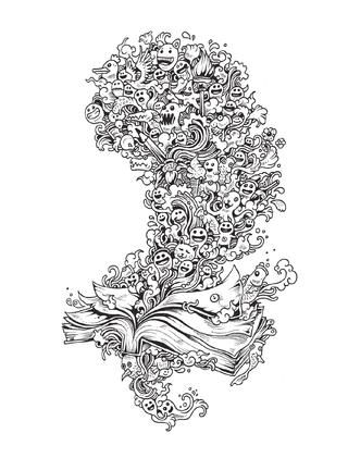 Doodle Invasion / mtm editores | Doodles, Papercutting and Coloring ...