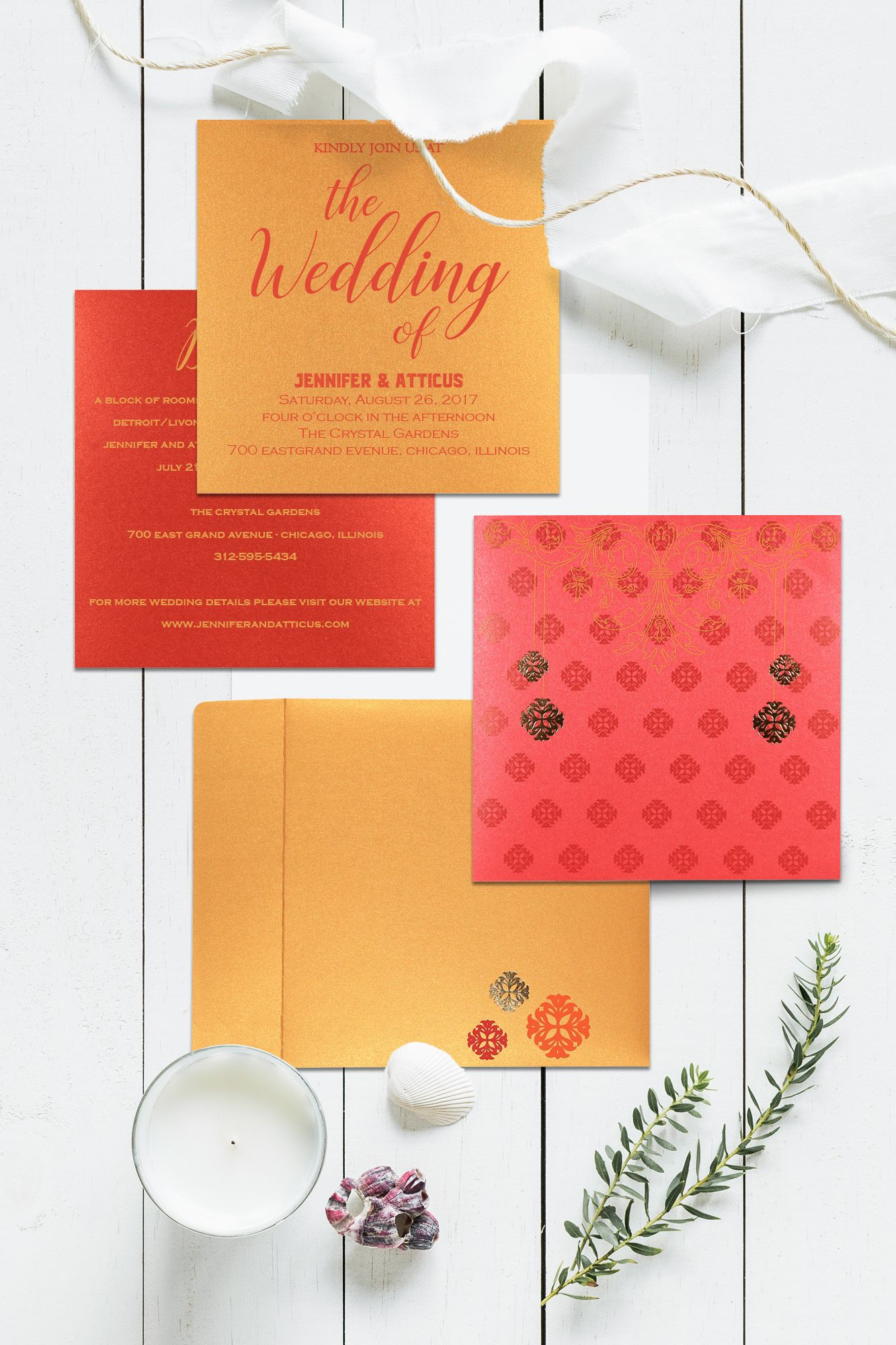 Buy the most exquisite large collection of Indian wedding invitation ...