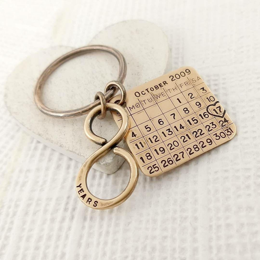 Recent custom order A pure bronze callendar keychain