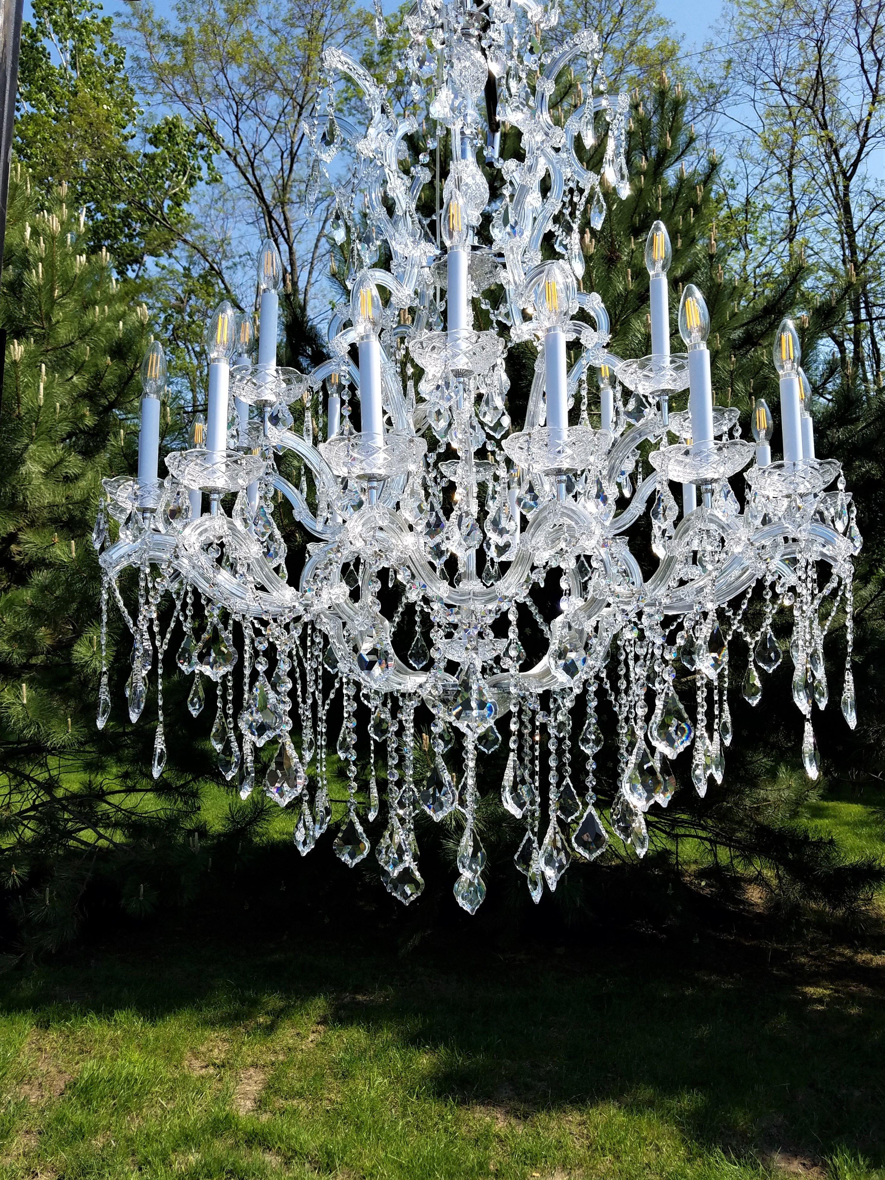 Image result for chandelier outside