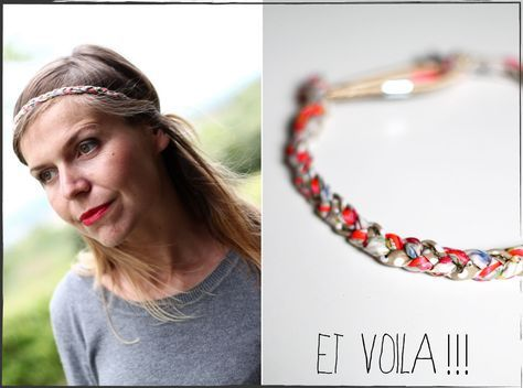 Diy Le Headband Tressé Liberty Bijou De Tête Cheveux - Tuto Fabrication Headband