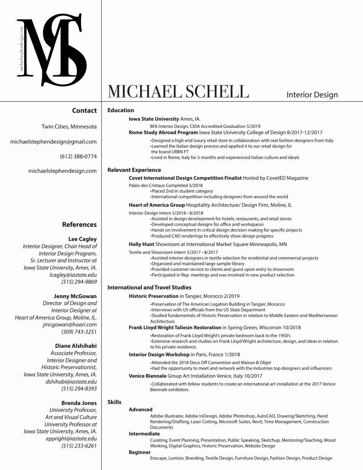 Resume Study Abroad Example Beautiful Resume By Michaelstephendesign Issuu Beautiful Issuu Michaelstephendesign Resume S Study Abroad College Design Resume