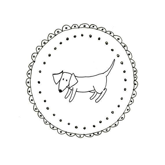 Hand Embroidery Dachshund Dog Wiener Dog Pattern Printable Sausage ...