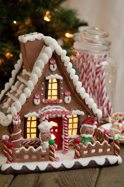 Kurt S Adler Gingerbread Claydough House Battery Operated Led D2869 Christmas Gingerbread House Gingerbread Gingerbread House Decorations