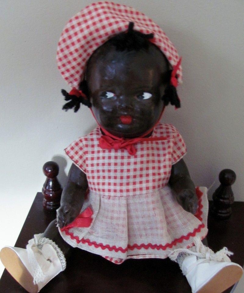 Old Pictures Of Black Dolls Vintage 10 Black Composition Topsy Doll Yesterday S Dolls Black Dolls Vintage Black Baby Dolls African American Dolls