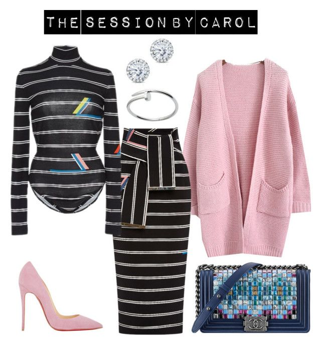 """""""Untitled #271"""" by the-session ❤ liked on Polyvore featuring Preen, Christian Louboutin, Chanel, Kobelli and Cartier"""