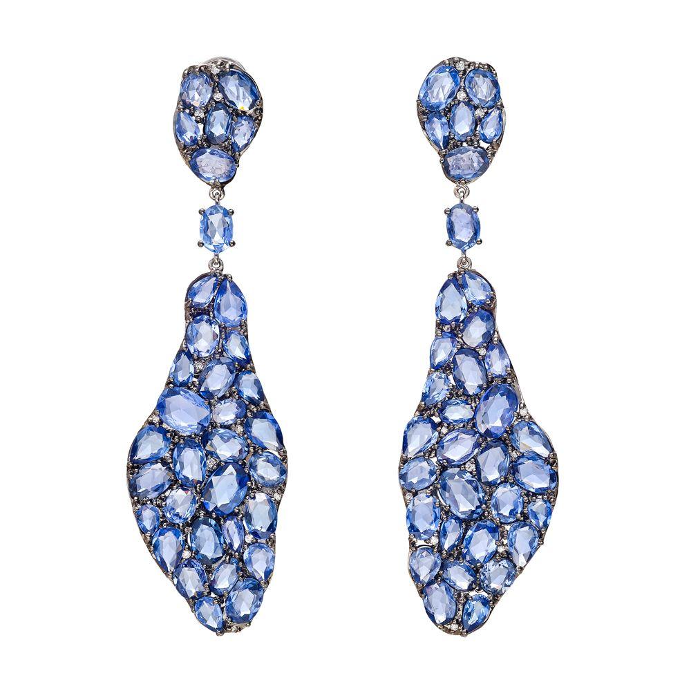 Betteridge collection sapphire u diamond drop earrings designer