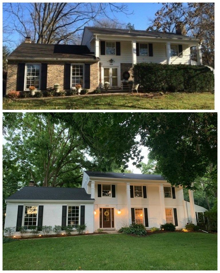 Over 20 Painted Brick And Stone Transformations Nesting With Grace Painted Brick House Brick Exterior House Exterior Brick
