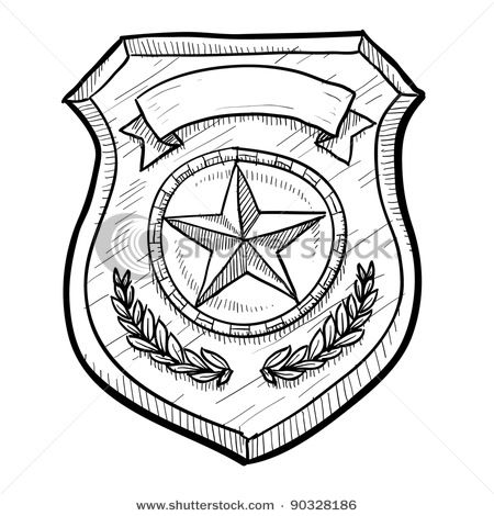 Police Badge Doodle Security Badge Police Badge Badge