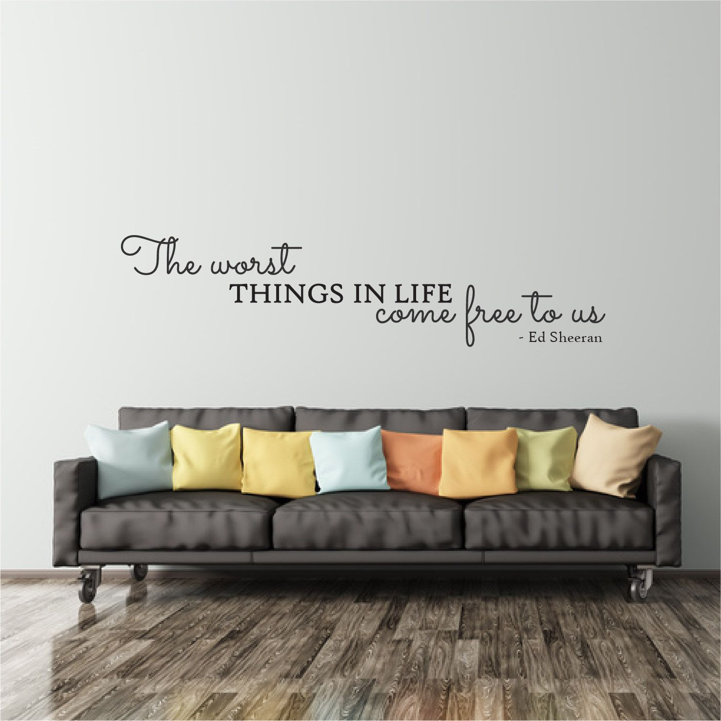 Ed Sheeran Wall Decal Quote Above Bed Decal Bedroom Wall Sticker - Wall decals above bed