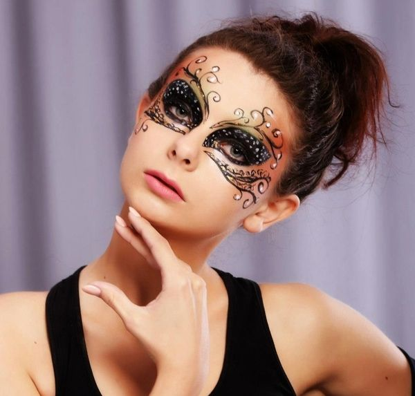 Venice mask | Maquillaje carnaval, Gáficos de la cara