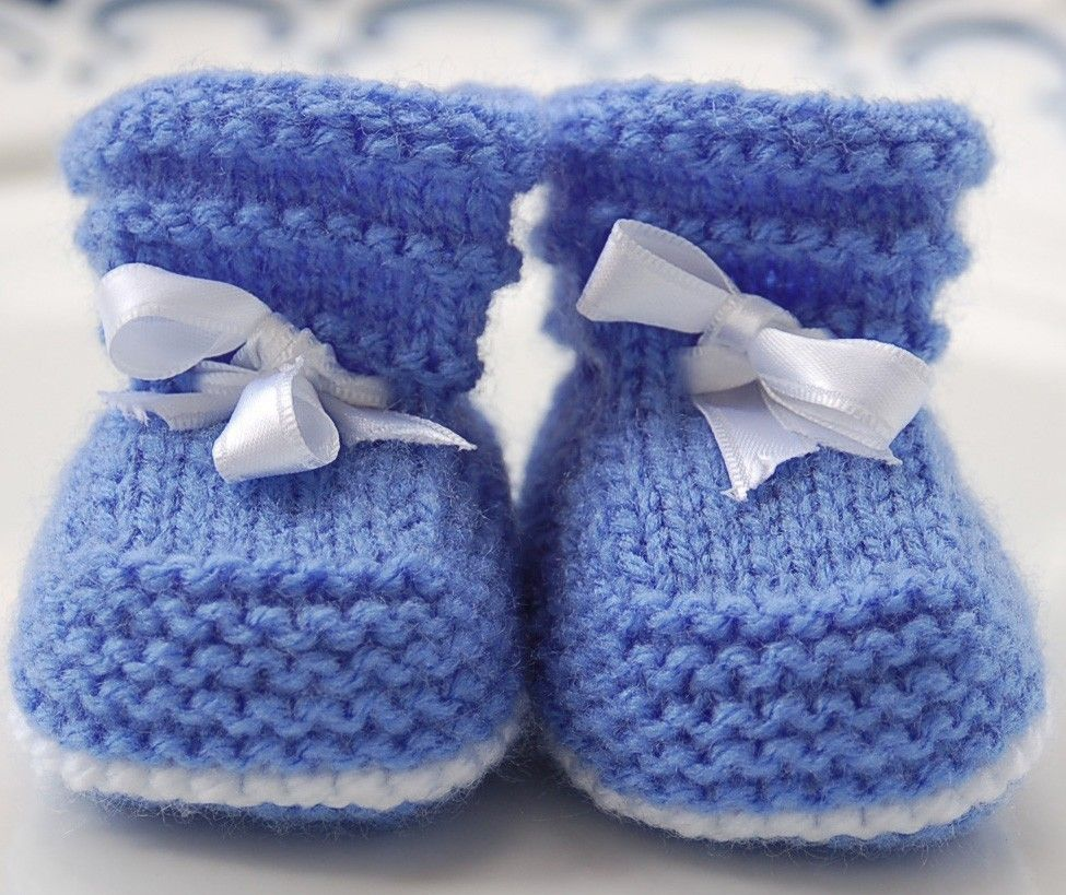 Easy Knit Cable Bootie Pattern | Easy Baby Booties PDF KNITTING ...