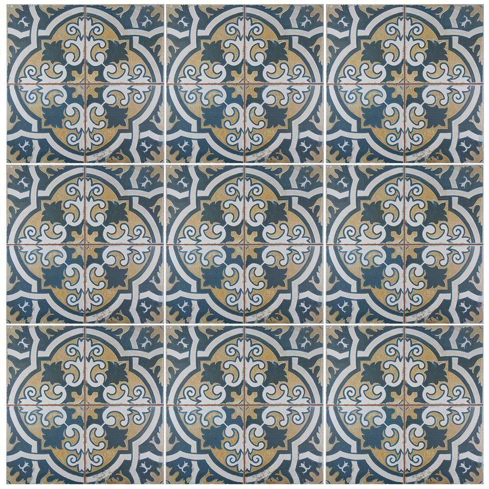 Merola Tile Kings Canarsie In X In Ceramic Floor And - Encaustic tile home depot