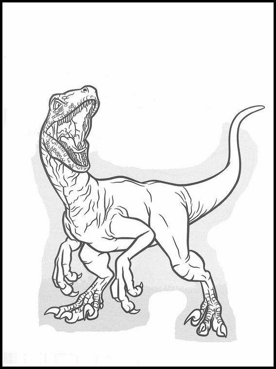 Jurassic World 37 Printable coloring pages for kids