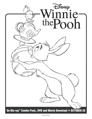 Disney Winnie The Pooh Rabbit Printable Coloring Page