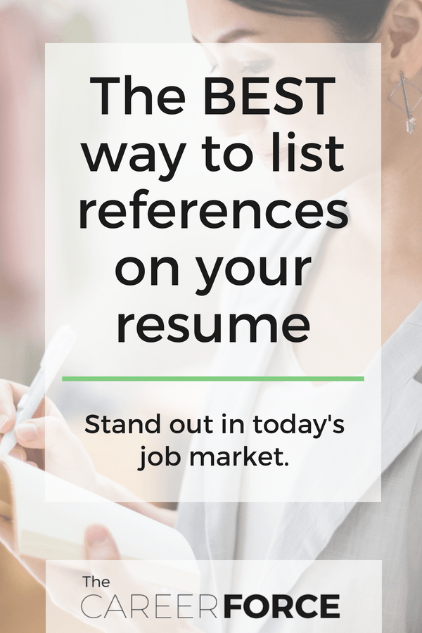 Should A Resume Include References Should I Put References On My Resume  Pinterest  Career Planning